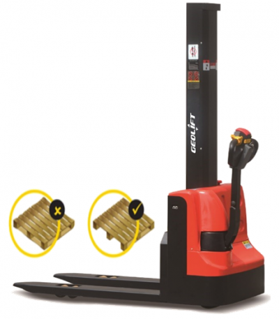1.2 tons GEOLIFT Walkie Electric Mono Mast Stacker- WES1216-MM