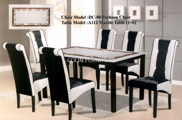 A112 Mable table with Solid leg+Parkson chair
