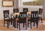DT587 Mable table with Solid leg+Solid chair 1TABLE + 6CHAIRS DINING SET MARBLE DINING ROOM