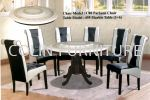 Round Mable table DT495 with Solid leg+Parkson chair 1TABLE + 6CHAIRS DINING SET MARBLE DINING ROOM