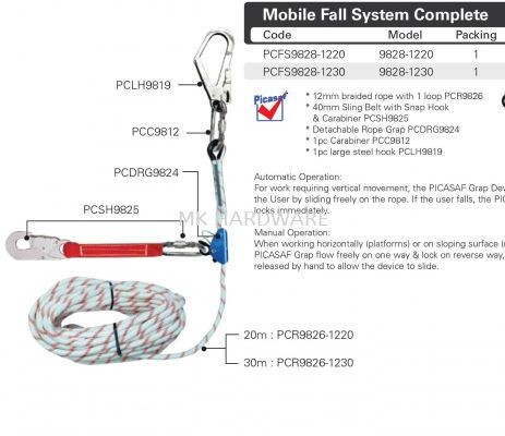 MOBILE FALL SYSTEM COMPLETE