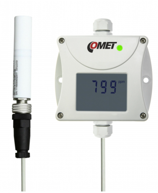 COMET T5141 CO2 Concentration transmitter with 4-20mA Output, external carbon dioxide probe,1m cable
