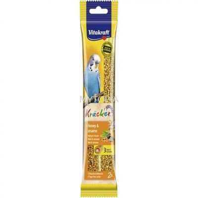 VITAKRAFT KRACKER BUDGIE 60G -HONEY & SESAME