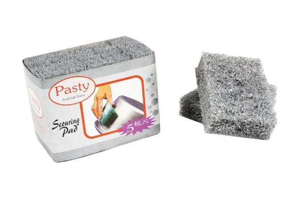 (8025-5) 5pcs Silver Scouring Pad