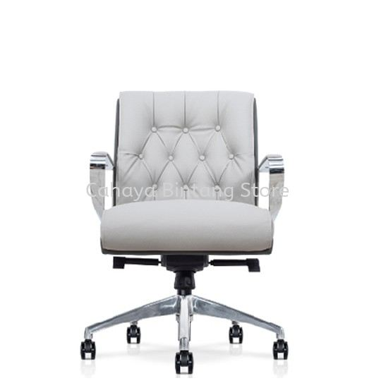 CALEN DIRECTOR LOW BACK PU CHAIR C/W ROCKET ALUMINIUM BASE
