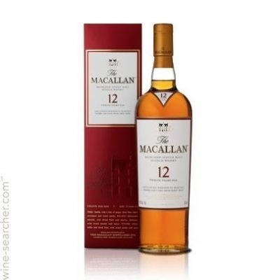 Macallan 12 Year Old Sherry Oak Discontinued Red