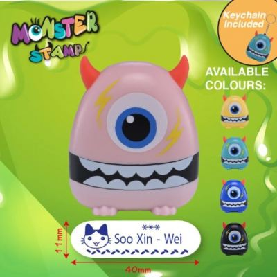 One Eyed Monster Stamp Pink