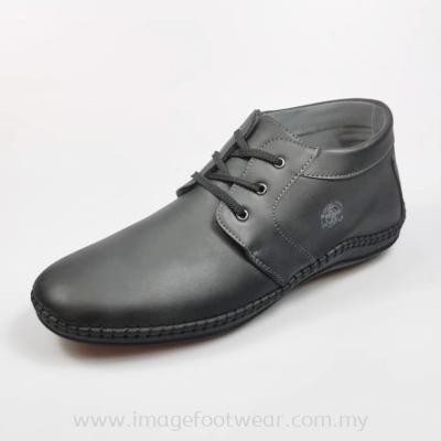 GREEN POINT Extra Size Men Shoe -GP-83-8842-BLACK  Colour