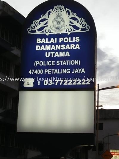 balai polis lightbox signage signbaord at damansara utama