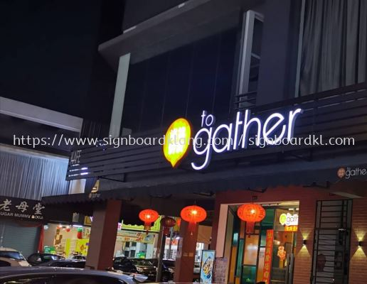 togather aluminum composite with 3D led frontlit lettering signage signboard at klang kuala lumpur