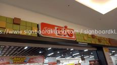 aeon big 3d led frontlit shopping mall indoor signage signboard