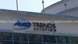 trends aviation 3d box up lettering signage signboard