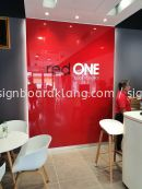 red one indoor pvc cut out 3d lettering signage signboard