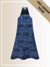 BTK(D)097 Pre-order Batik & Lace Cut-in Maxi Dress Maxi Batik Cheongsam Qipao/Cheongsam Series