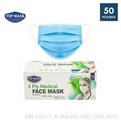 Top Mask 3 Ply Medical face Mask