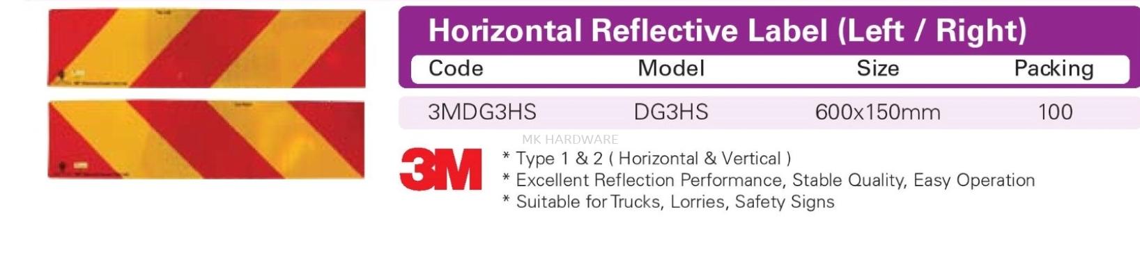 HORIZONTAL REFLECTIVE LABEL (RIGHT/LEFT)