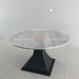 Majestic White Greece Marble Dining Table   Sivec White   6 Seaters