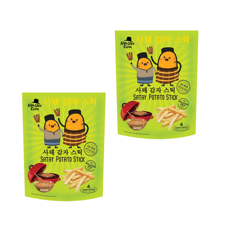 Master Kim Satay Potato Stick 72g Stand Pouch (Snacks Potato Chips)