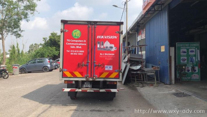 TG Computers & Communications Sdn. Bhd. Lorry sticker