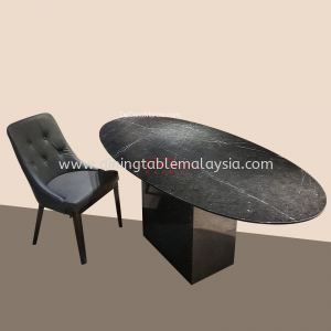 Black Marquina   Spain   6 seaters   Dining Table Only   RM3,999