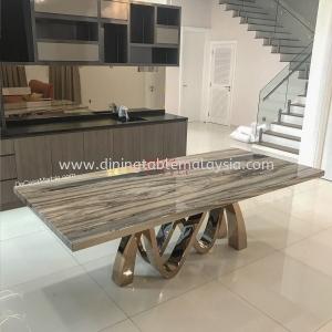 Premium Marble Table   Palisandro Bluette   8-10 Seaters