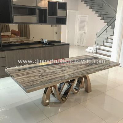 Premium Marble Table | Palisandro Bluette | 8-10 Seaters