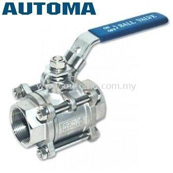 """SS316 Ball Valve 1"""" 3~Piece-Body with Locking Device #AT301-25"""