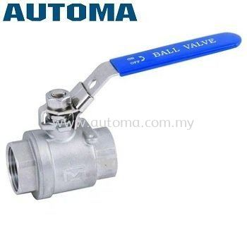 """SS304 Ball Valve 1.5"""" Two-Piece-Body with Locking Device #AT200-40"""