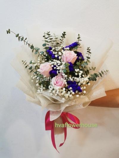 Pink Rose Bouquet Love