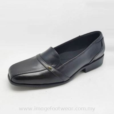 EXPRESS POLO Full Leather Ladies Shoe-LL-90547-BLACK Colour