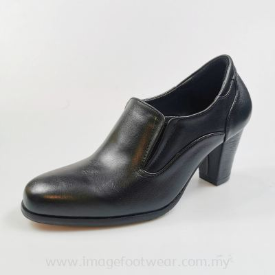 EXPRESS POLO Full Leather 2.5inch Ladies Boots-LL-90441-BLACK Colour