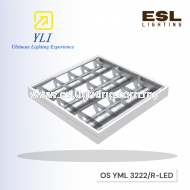 YLI T8 LED Mirror Louver Fitting type S (Surface Ceiling Mounted / Suspension)