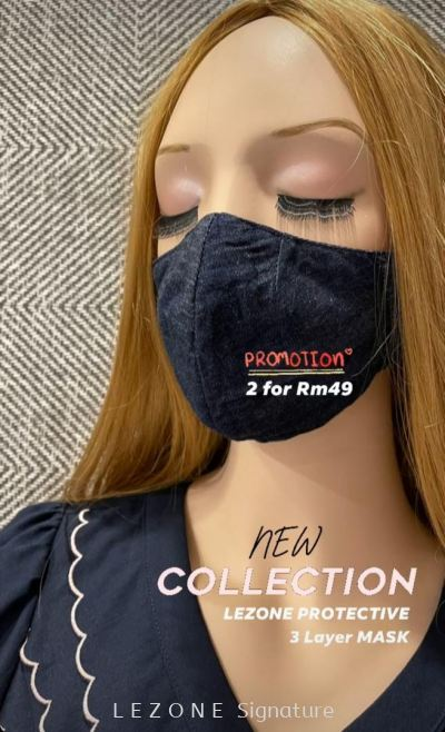 3257 LEZONE Protective 3-Layer Washable Fashion Mask��Limited Collection��