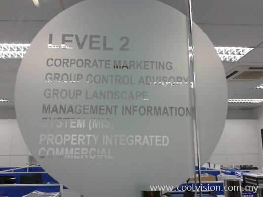 Die-Cut Frosted Film With Design