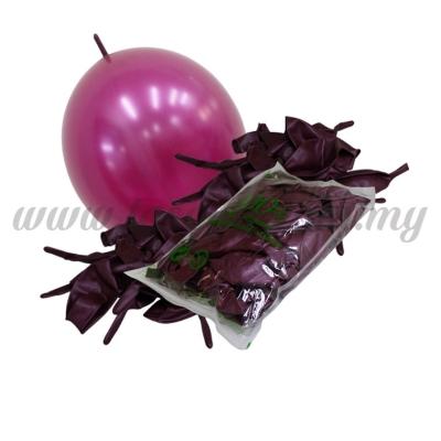 12inch Metallic Link Balloons - Burgundy 100pcs (B-12MRL-M7)