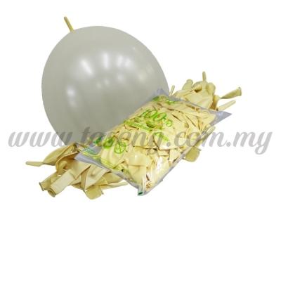 12inch Pearl Link Balloons - Ivory 100pcs (B-12MRL-P9)