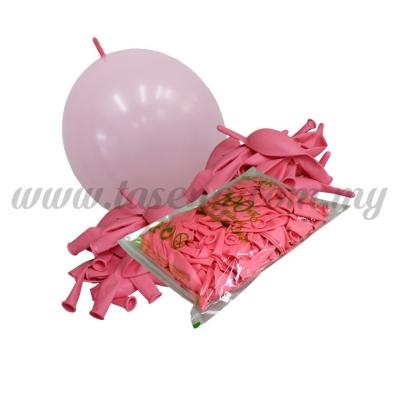 12inch Pastel Link Balloons - Light Pink 100pcs (B-12SRL-PT3)