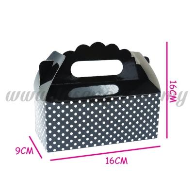 Cake Box -Black 1pack *6pcs (CB-BK)