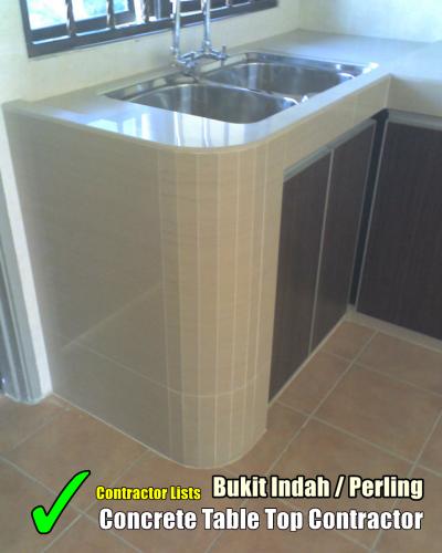 Concrete Table Top Contractor Lists Bukit Indah Perling
