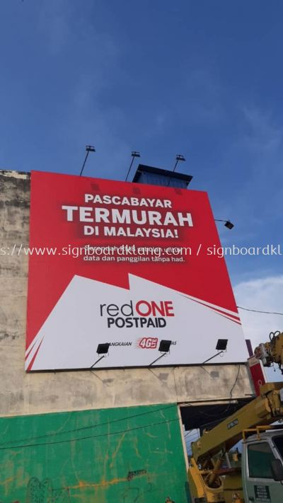 red one billboard signage signboard