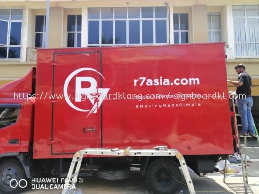 r7asia truck lorry sticker