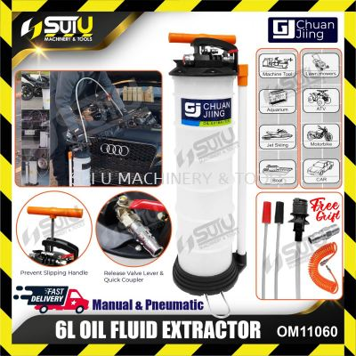 CHUAN JIING OM-11060 6L Oil Fluid Extractor 2.9kg w/ Free Gift + Air Hose