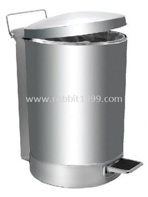 RABBIT STAINLESS STEEL PEDAL BIN - 43lt - RPD-081/P
