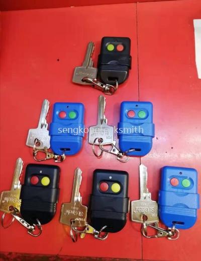 Duplicate auto gate remote control