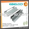EBELCO Door Access Bracket Top & Bottom UP & Down with Cover 600lbs Glass Door Aluminum Magnetic Magnet Door DBR006 (COVER) DSU-600 DOOR ACCESS