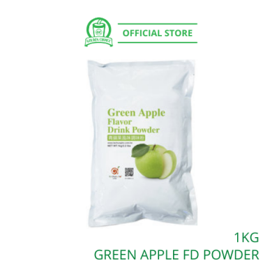 Green Apple Flavor Drink Powder 1kg- Taiwan Imported | Flavor Bubble Tea | Smoothies | Ice Blended