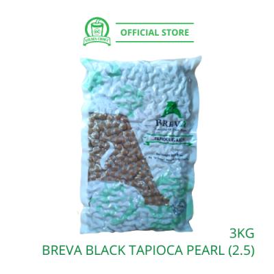 Black Tapioca Boba Pearl BREVA (2.5) 3kg - Bubble Tea | Raw | Boba | ÕäÖéÄ̲è | ·ÛÔ²ÕäÖé