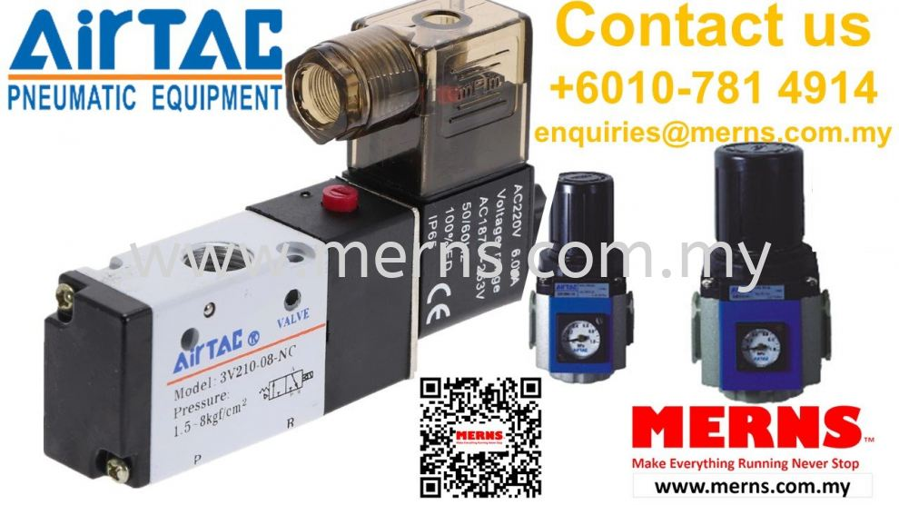 Airtac Pneumatic equipments, actuators, control components, air preparation products, and accessorie