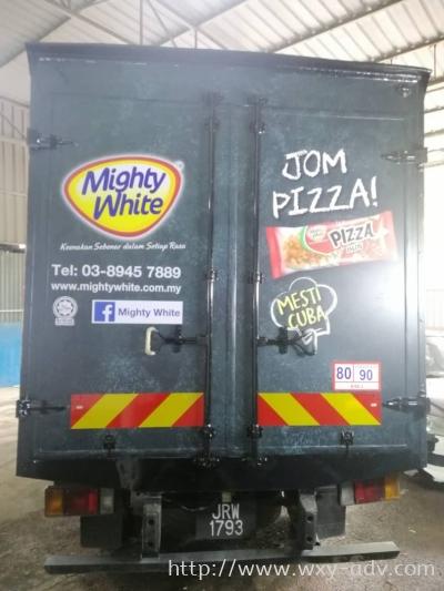 Mighty White Lorry sticker