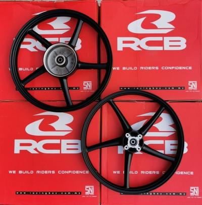 SPORTS RIM RACING BOY SP522 LC135/LC4S/SPARK135 BLACK F140X17 R160X17 01S0275H(MKAIIEE)